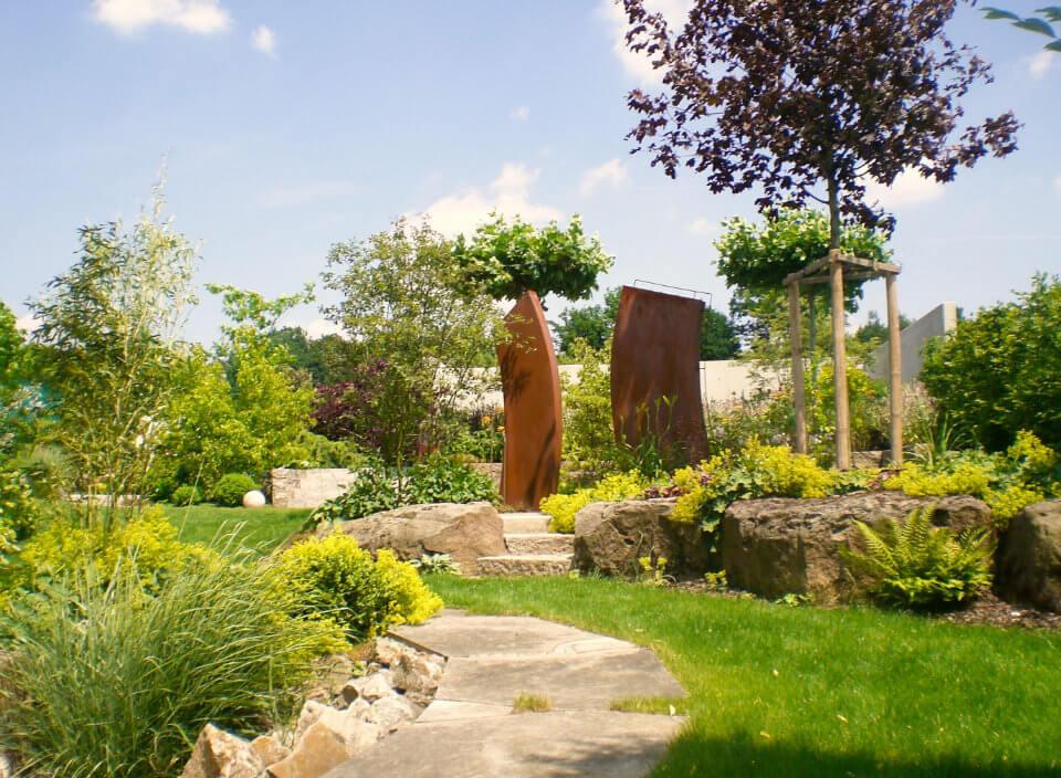 Gartengestaltung mit Metallelementen