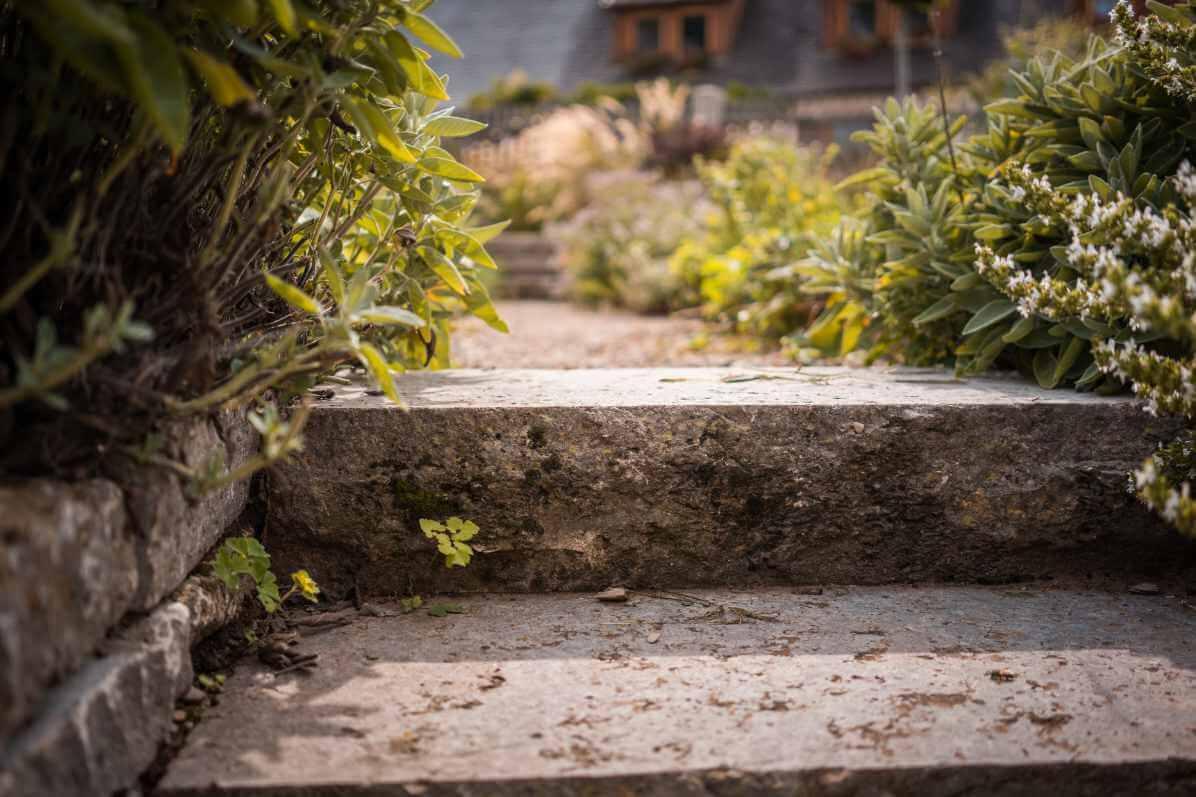 Gartengestaltung mit Treppe