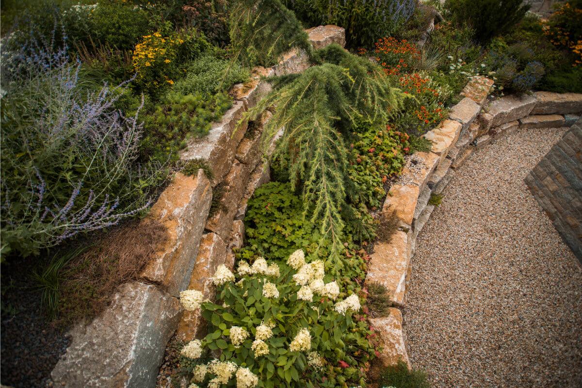 Gartengestaltung mit Etagenbeet